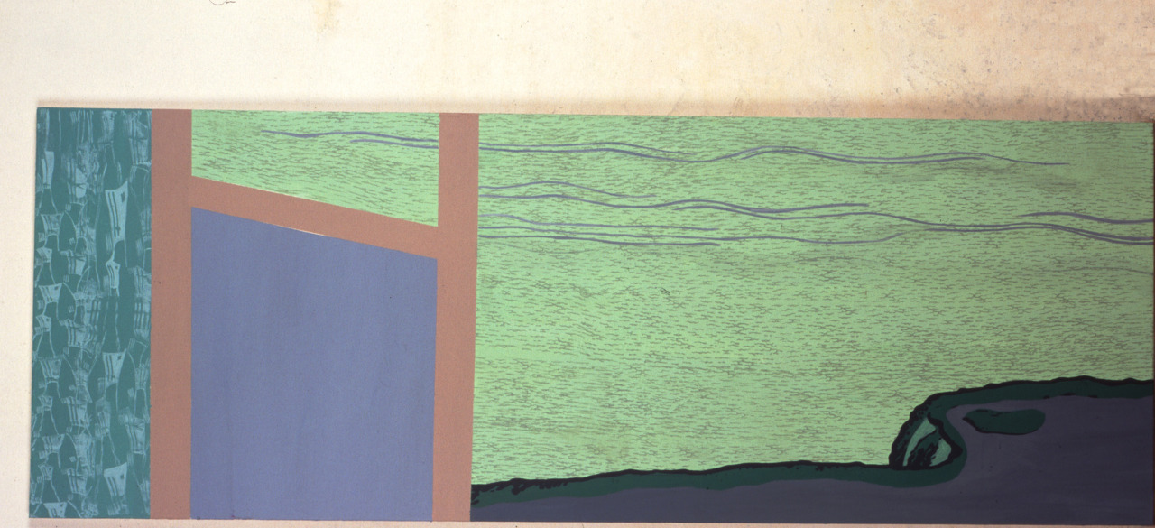untitled, 2000, acrylic on canvas, 198x72cm