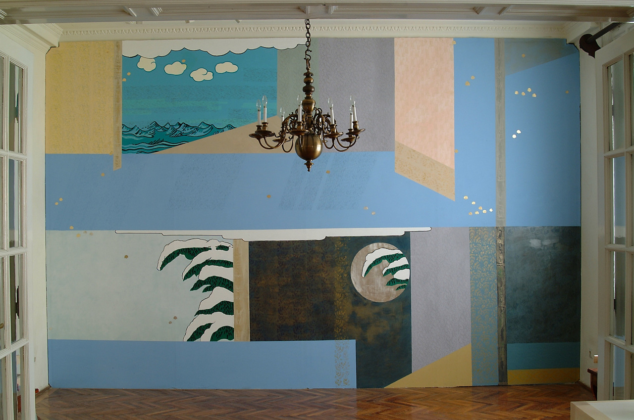 untitled, 2001, wall painting, 493x340cm