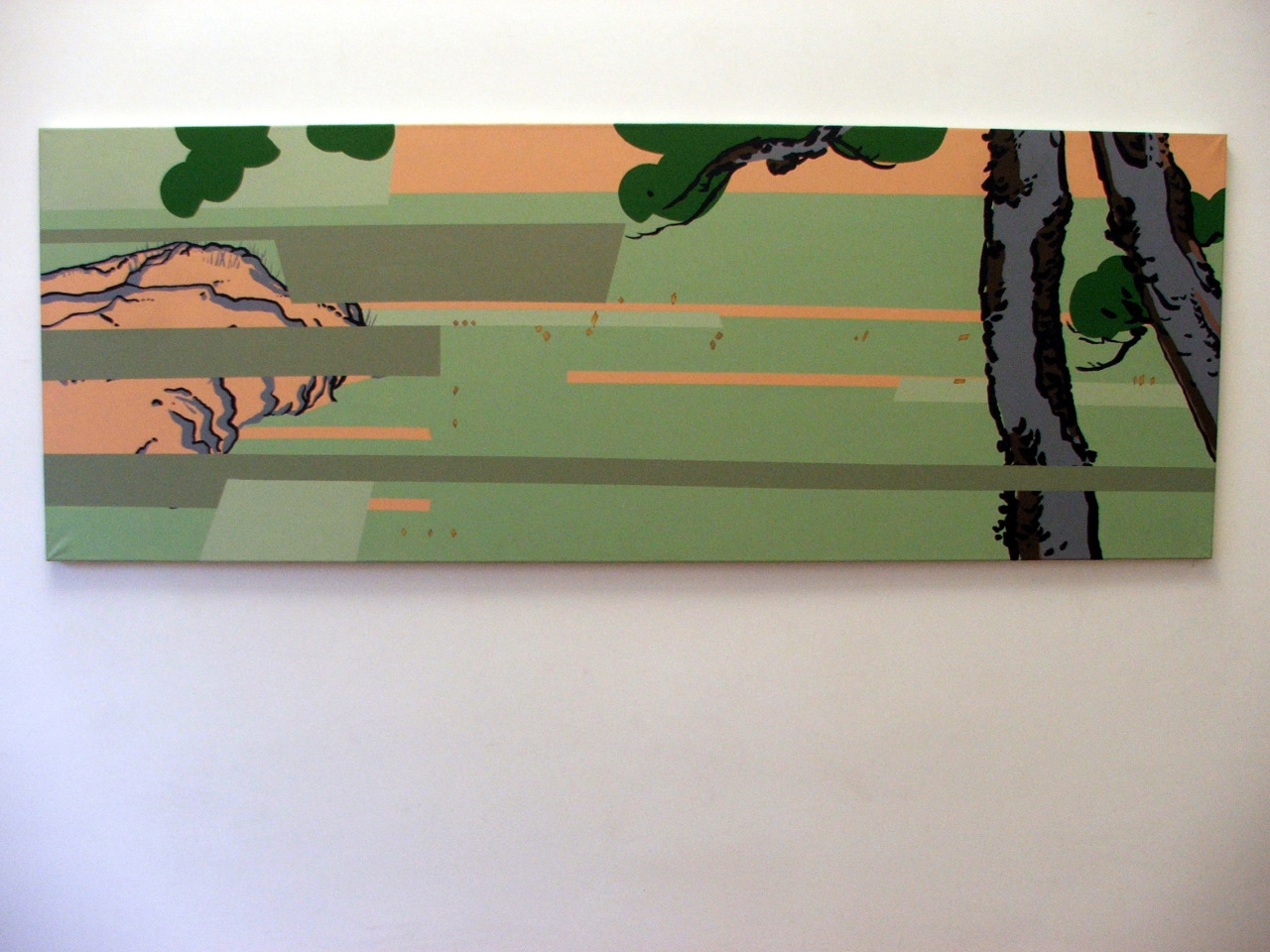 untitled, 2005, acrylic on canvas, 198x72cm