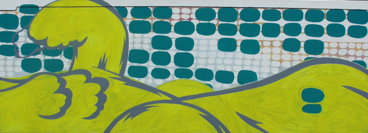 untitled, 2005, acrylic on canvas, 198x72cm