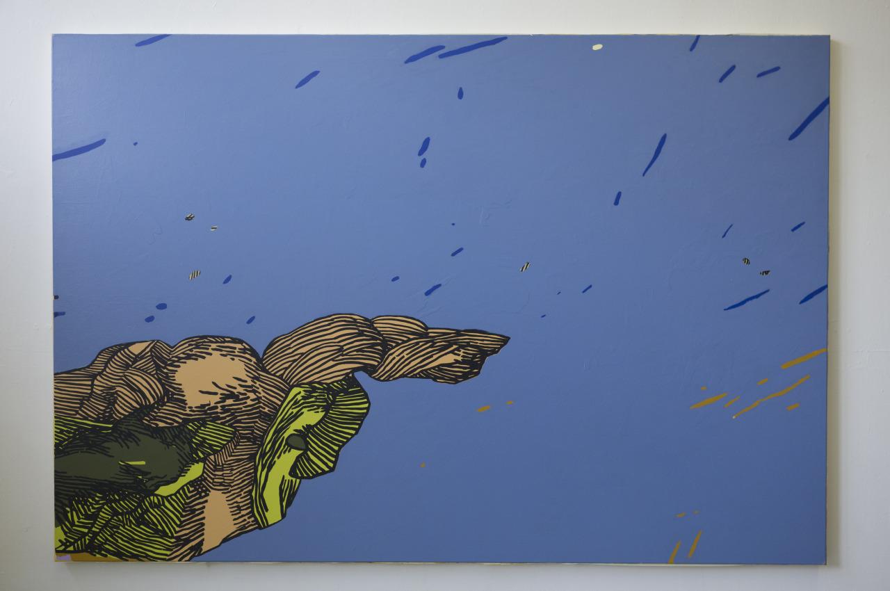 untitled, 2014, acrylic on canvas, 220x150cm