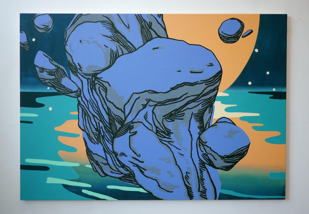 untitled, 2014, acrylic on canvas, 200x140cm